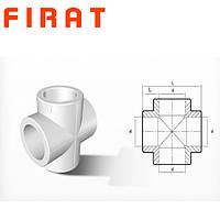 Крестовина полипропиленовая Firat, 25 мм
