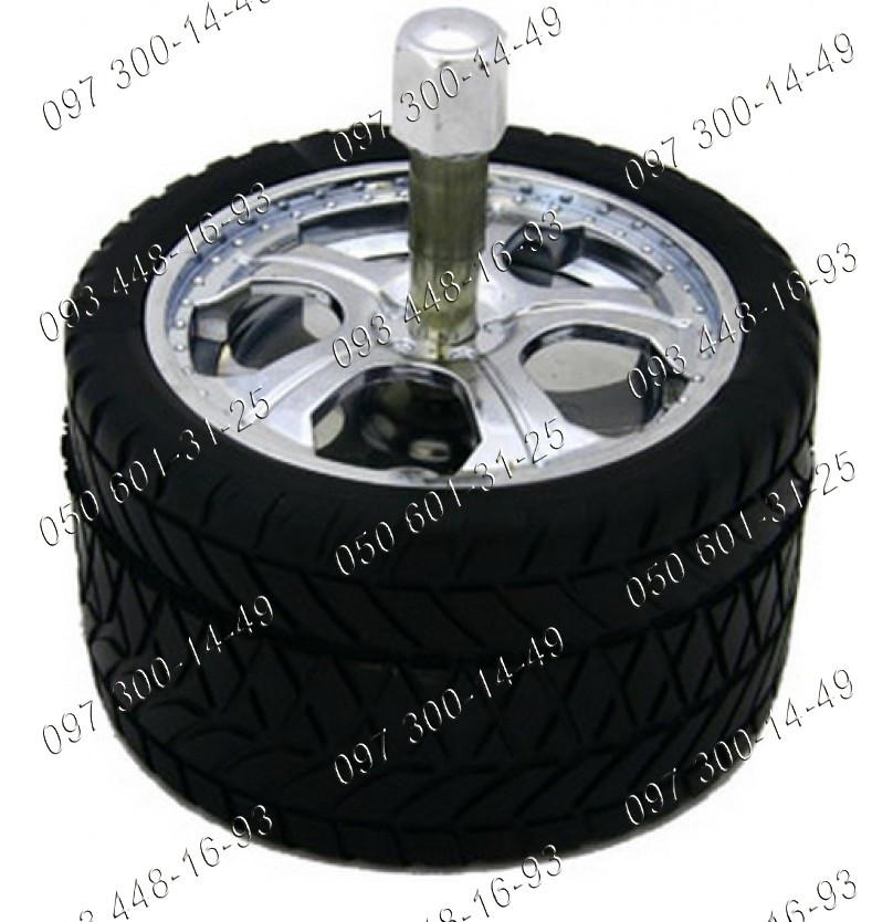 Пепельница колесо Юла №1608 Круглая пепельница Юла выполненная в стиле автомобильного колеса Подарочные идеи