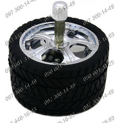 Пепельница колесо Юла №1608 Круглая пепельница Юла выполненная в стиле автомобильного колеса Подарочные идеи , фото 2