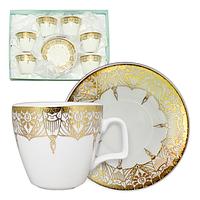Сервиз кофейный 12пр (чашка-100мл,блюдце-11см) Тутанхамон 1шт 145-04