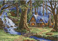 Схема для вышивки бисером Домик у ручья