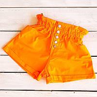 0226-7 оранж Defile шорты джинсовые женские на резинке коттоновые (34-40,евро, 6 ед.)