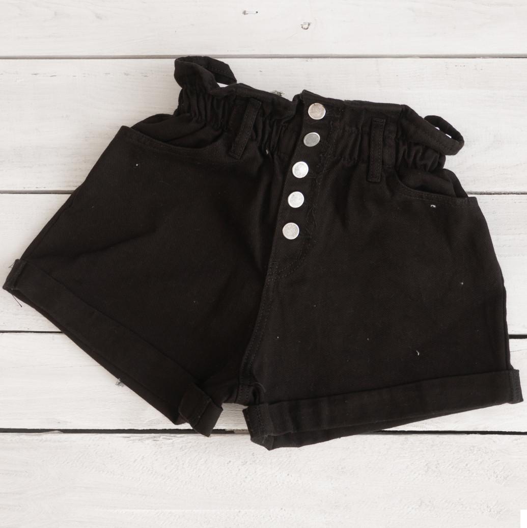 0226-9 чорні Defile шорти джинсові жіночі коттонові (34-40,євро, 6 од.)