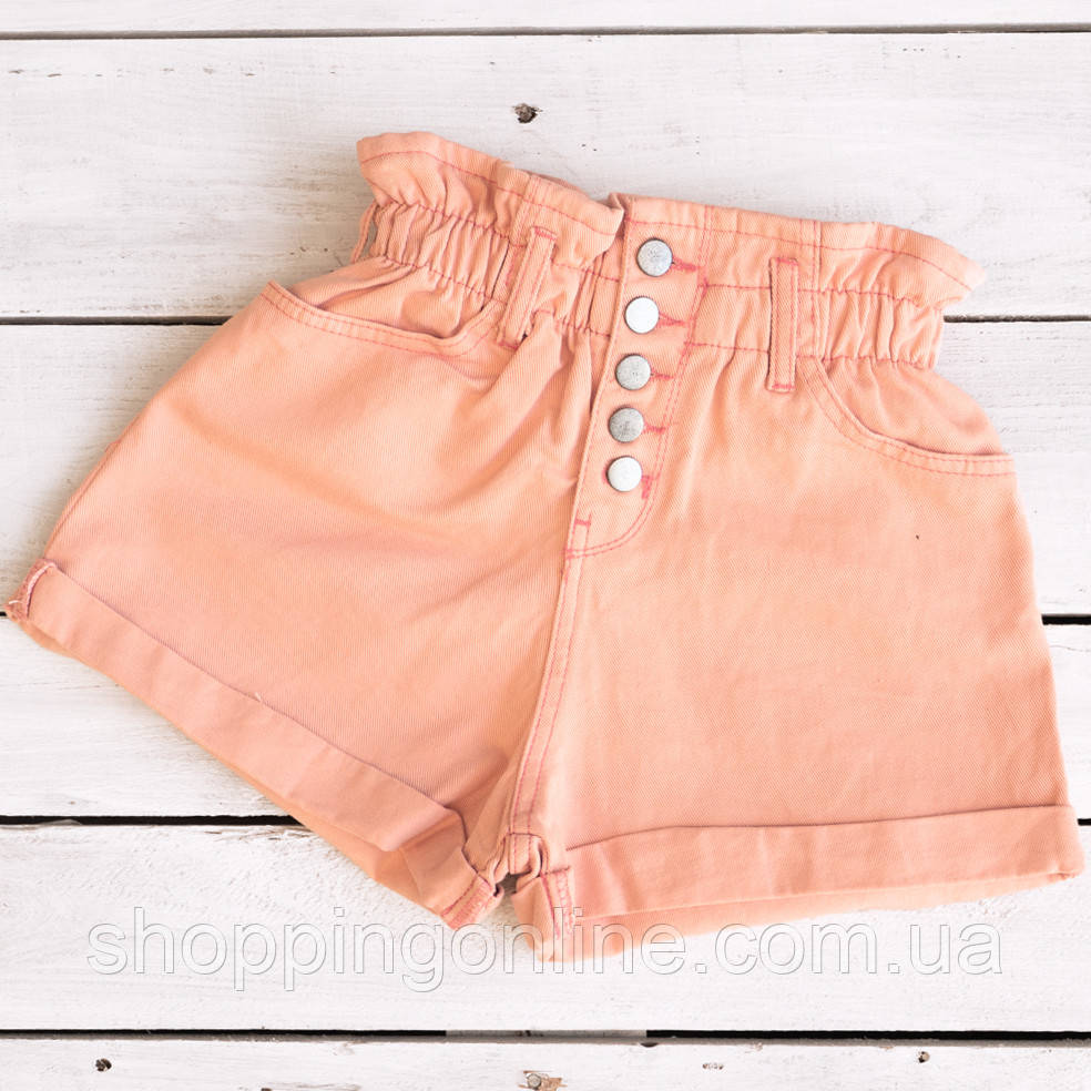 0226-8 пудровые Defile шорты джинсовые женские коттоновые (34-40, евро, 6 ед.)