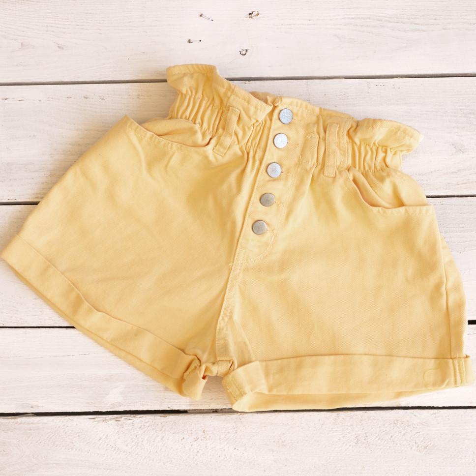 0226-6 пісочний Defile шорти джинсові жіночі на резинці коттонові (34-40,євро, 6 од.)