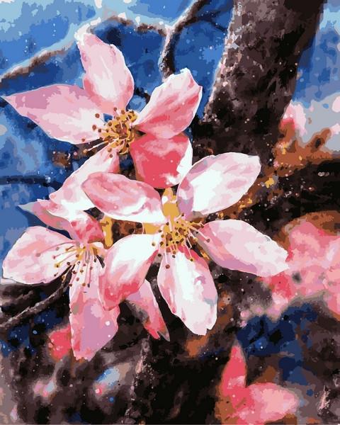 Картина за номерами Babylon Цвітіння яблуні 40*50 см арт.VP1168
