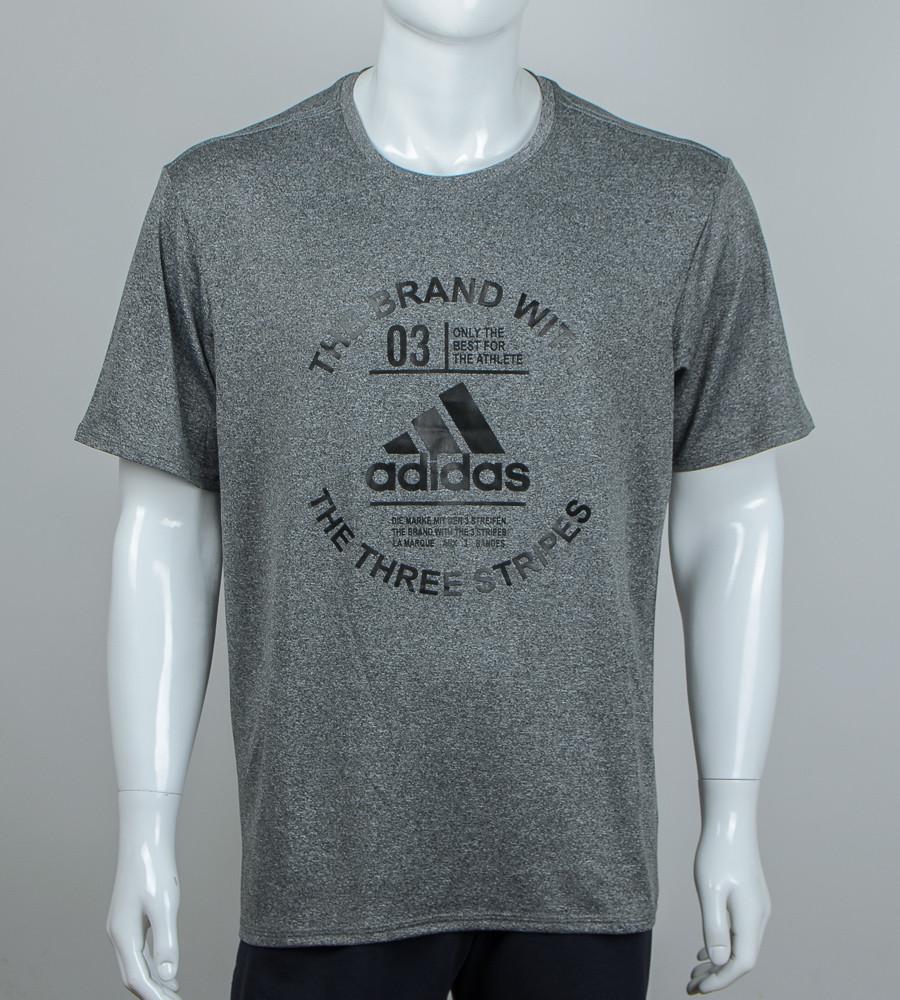 Футболка батал мулине Adidas (2056б), Серый