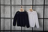 Блузка для дівчинки шкільна синя SmileTime Susie (ШКОЛА, фото 9