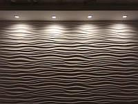 """Гіпсова 3Д панель для декорацій стін Кнауф Р-10 """"Хвиля"""""""