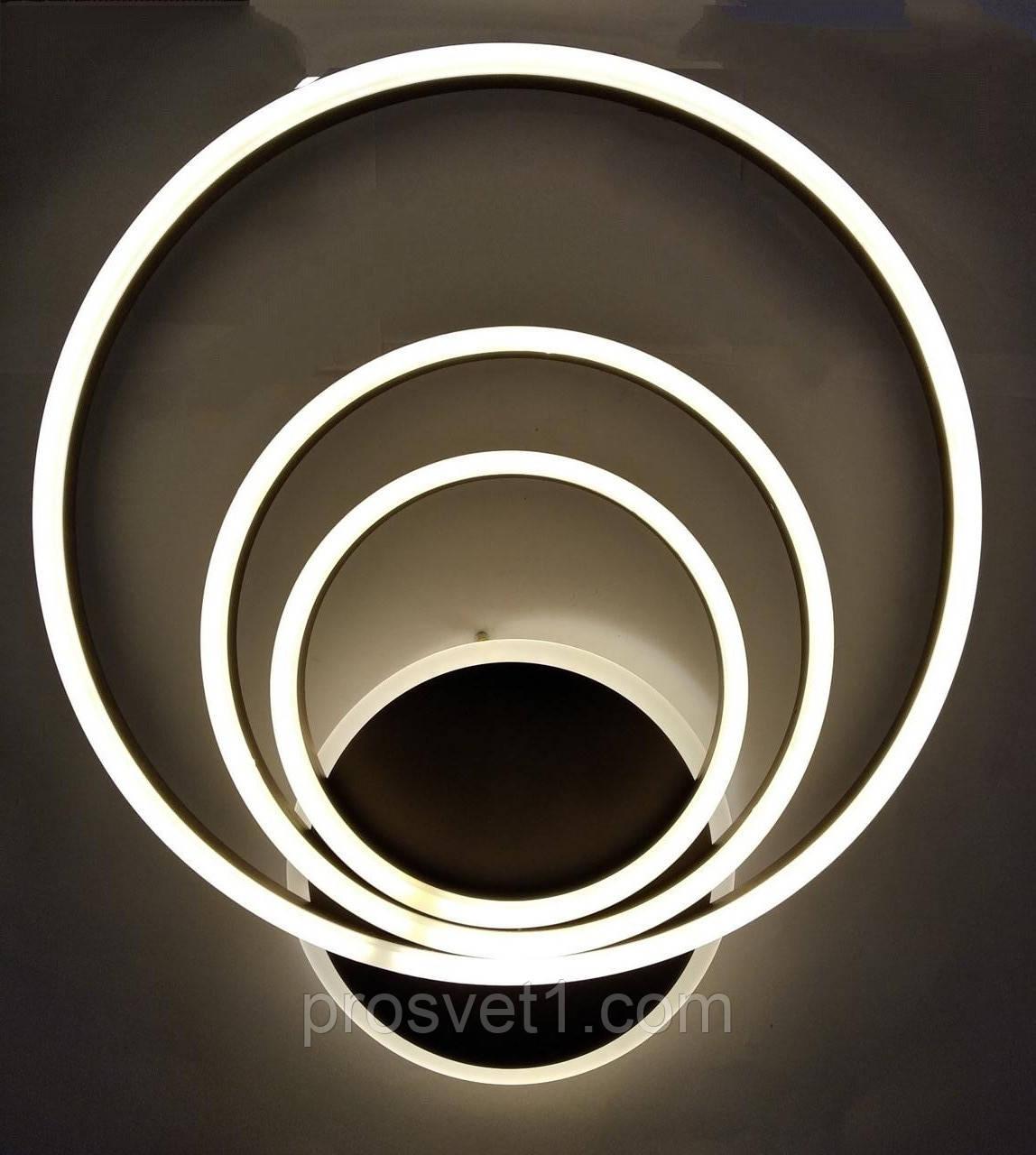Светодиодная люстра круги на пульте LED (B7711 CF 176W)