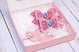 Набор заколок в розовом цвете в коробке, фото 3