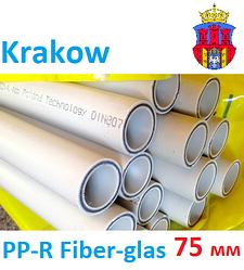 Полипропиленовая труба 75 мм со стекловолокном Krakow PP-R Fiber-glas PN 20, для отопления