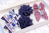 Набор заколок Okl Розово - синий 6 штук РР 264, фото 1