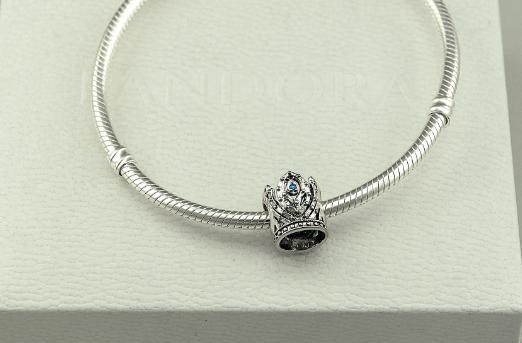 Бусина шарм корона  подвеска для браслета Pandora Пандора серебро