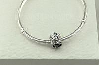 Бусина шарм корона  подвеска для браслета Pandora Пандора серебро, фото 1