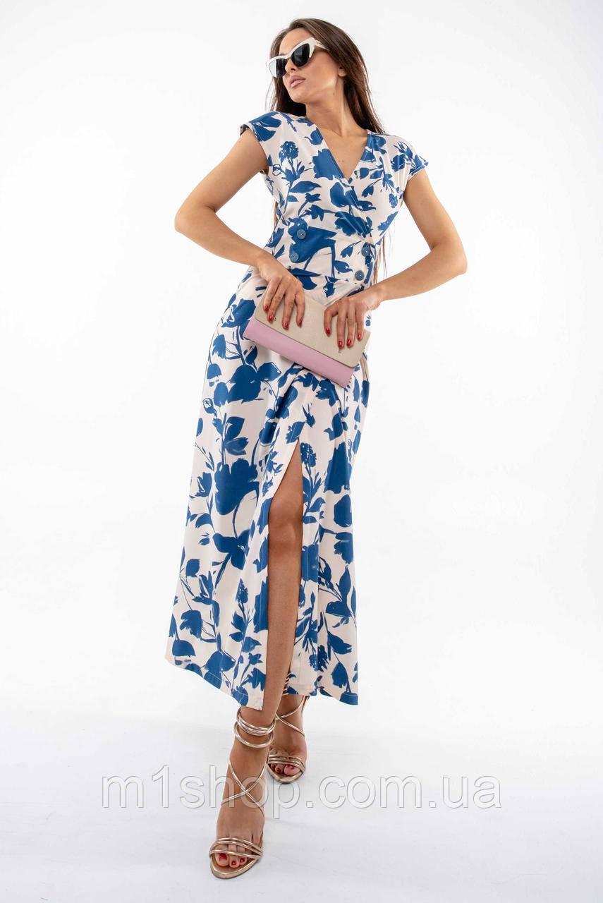 Летнее длинное платье с завышенной талией и с принтом (Пэйтон ri)