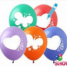 """Воздушный шар """"Нарисуй сам"""" 30 см диаметр"""