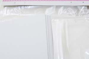 Набор белых текстурированных заготовок для открыток, 10см*20см, 250г/м2, 5шт.