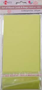 Набор оливковых перламутровых заготовок для открыток, 10см*20см, 250г/м2, 5шт.