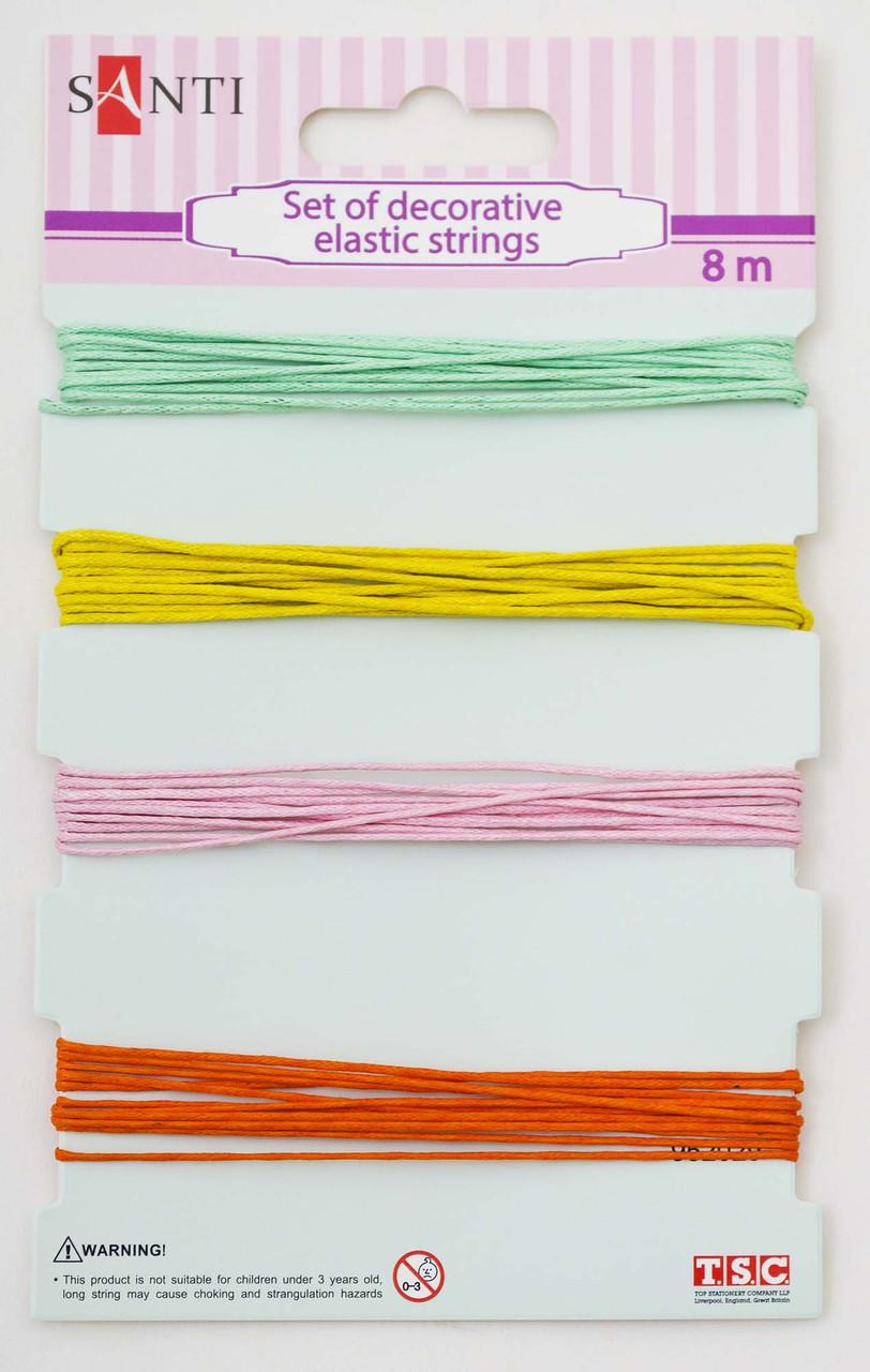 Набор шнуров декоративных, 4 цвета, 8м/уп., летний