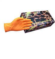 Нітрилові рукавички помаранчеві 100 шт, розмір XXL