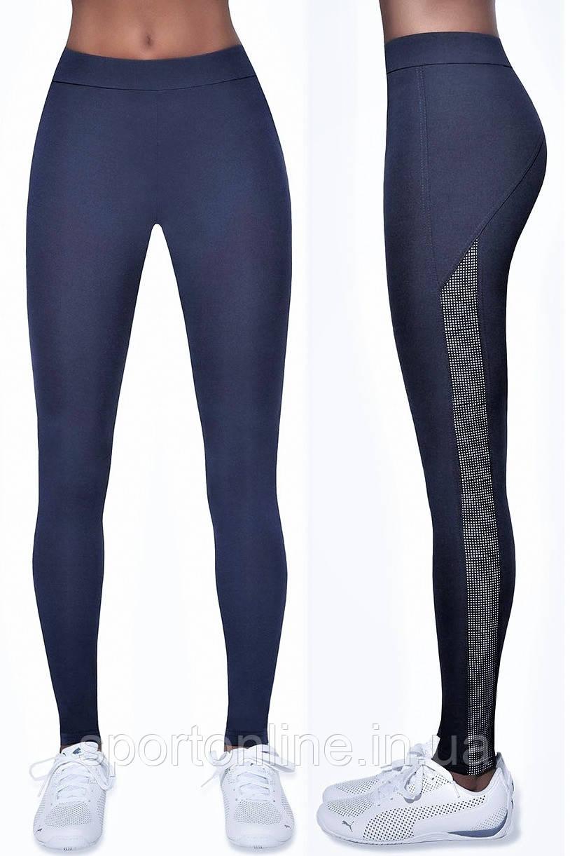 Леггинсы спортивные женские Bas Black Imagin blue, тёмно-синие M