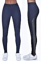 Леггинсы спортивные женские Bas Black Imagin blue, тёмно-синие M, фото 1