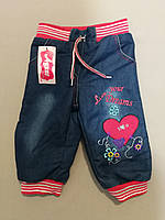 Тёплые джинсы на меху для девочки до полугода, фото 1