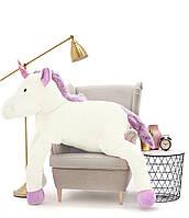 Мягкая игрушка. Плюшевый Единорог. 190 см Белый
