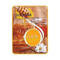 Тканевая маска для лица с экстрактом меда Puorella Honey