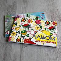 Альбом для рисования А4, планшет, клееный, 30 л. в ассортименте
