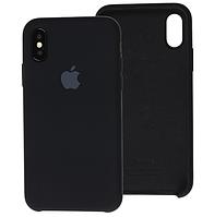 Чехол Silicone Case для iPhone X, Xs черный (айфон икс, икс ес)