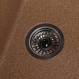Мойка кухонная Solid Оптима, терракот (ДхШхГ-650х510х200), фото 3