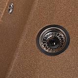 Мойка кухонная Solid Оптима, терракот (ДхШхГ-650х510х200), фото 4