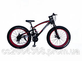 "Велосипед Unicorn Godzilla 17"" Фэтбайк Black & Red"