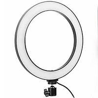 Кольцевая LED лампа USB с держателем для телефона Ring Fill Light  ZD666 (26 см)