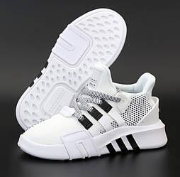 Женские кроссовки Adidas EQT Bask ADV W белые черным летние в сетк. Живое фото. Живое фото. Реплика