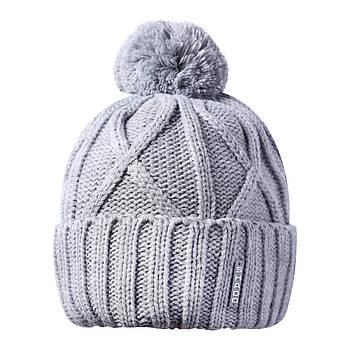 Мужская шапка с бубоном серый