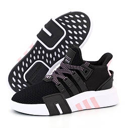 Женские кроссовки Adidas EQT Bask ADV W черные летние в сетка. Живое фото. 36-40р. Живое фото. Реплика