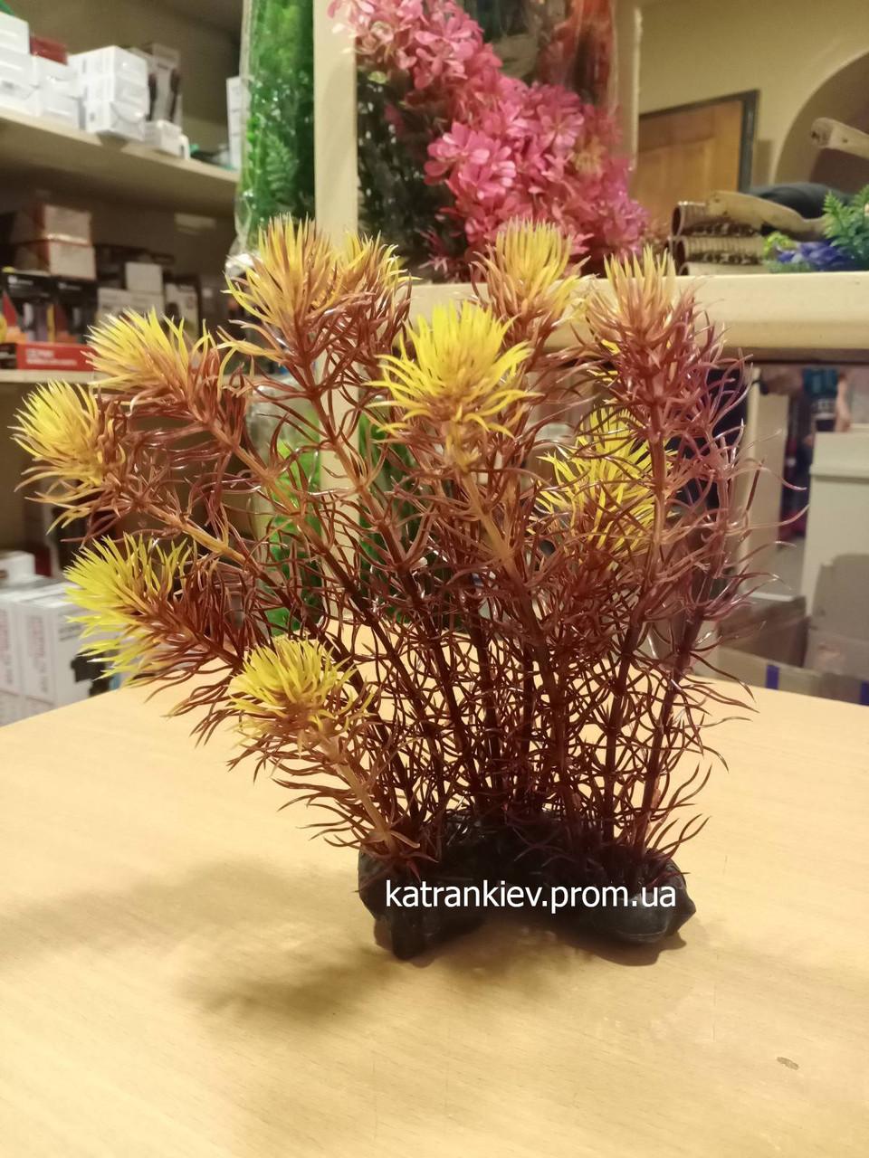 Штучне рослина в акваріум minjiang В42201 (11*15*20 см)