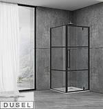 Душевая кабина Dusel DL198BP/DL196BP Black Matt Paint, 90х90х190, дверь распашная, стекло прозрачное, фото 2