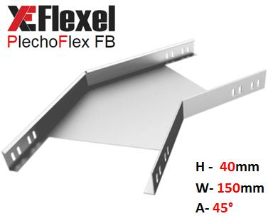 Уголок оцинкованный 45° W150 H40 T1,2 мм Plechoflex