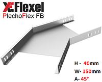 Уголок оцинкованный 45° W150 H40 T1,2 мм Plechoflex, фото 1