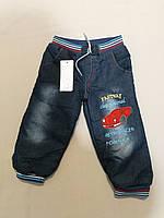 Тёплые джинсы на меху для мальчика до 2, 3  лет, фото 1