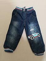 Тёплые джинсы на меху для мальчика до 3  лет, фото 1