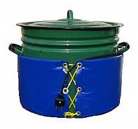 Декристаллизатор, роспуск мёда в кастрюле 40 л. t +40 гр.С