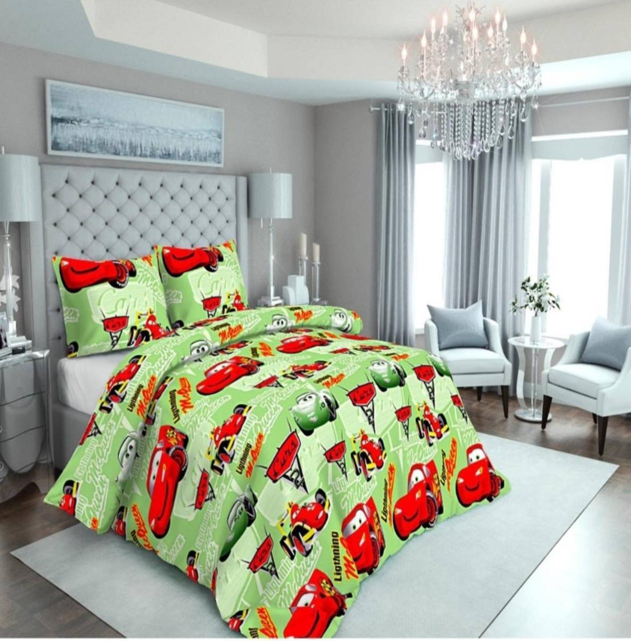 Комплект постельного белья подростковый Маквин на зеленом