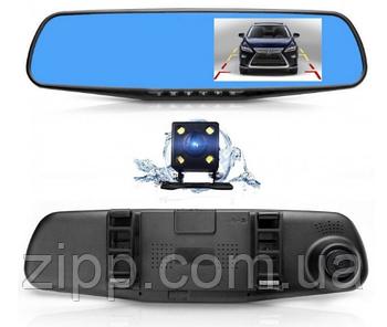 Автомобильный регистратор зеркало Blaсkbox 1433 Full HD видеорегистратор с камерой заднего вида