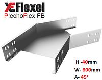 Уголок оцинкованный 45° W600 H40 T1,5 мм Plechoflex, фото 1