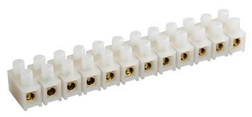 Клемна гвинтова колодка PP 14mm2, 20A біла, фото 2